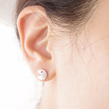Modern Basic Ear Piercing Ideas for Women - Minimalist Metal Pacman & Ghost Earring Studs in Gold or Silver - ideas simples de perforación de orejas mínimas - www.MyBodiArt.com #earrings