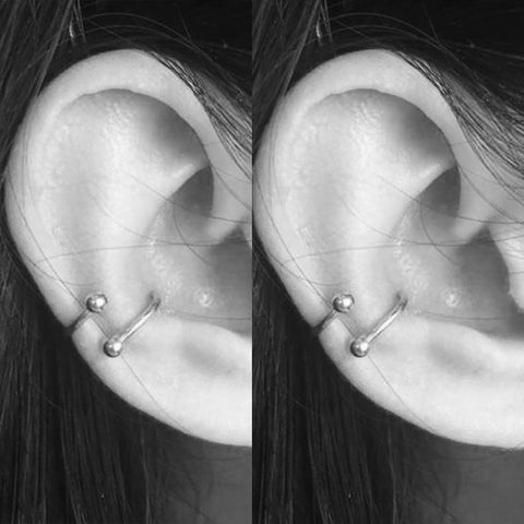Simple Spiral Twister Conch Cartilage Helix Ear Piercing Jewelry Ideas Earrirng - www.MyBodiArt.com #piercings