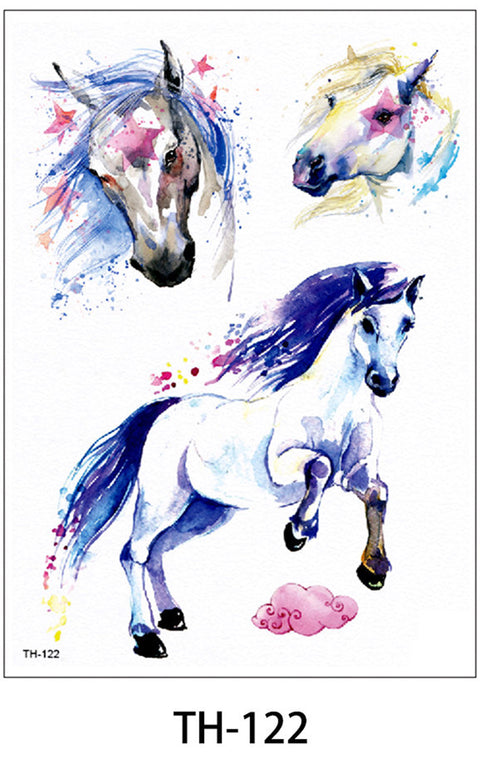 Cute Unique Watercolor Unicorn Temporary Tattoos Ideas for Women for Teens for Kids - www.MyBodiArt.com #tattoos