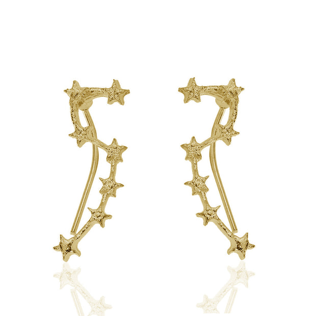 Unique Ear Piercing Ideas Fashion Jewelry for Teens - Constellation Star Ear Climber Crawler Earrings Studs in Gold or Silver -pendientes de estrella lindo - www.MyBodiArt.com #earrings