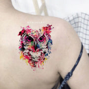 Cool Watercolor Owl Temporary Shoulder Tattoos Ideas for Women -  Acuarela búho tatuaje ideas para mujeres - www.MyBodiArt.com