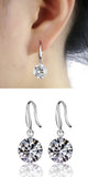 Fancy Classy Ear Piercing Ideas for Women - Crystal Drop Dangle Silver Earrings - elegantes pendientes de cristal - www.MyBodiArt.com #earrings