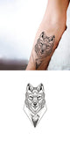 Geometric Wolf Wrist Tattoo Ideas for Women - Cool Unique Fox Animal Forearm Tat - Ideas geométricas del tatuaje de la muñeca del lobo para las mujeres - www.MyBodiArt.com