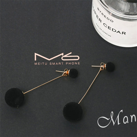 Classy Ear Piercing Ideas - Fancy Drop Pom Pom Circle Earrings in Gold -  elegantes pendientes de gota con clase - www.MyBodiArt.com