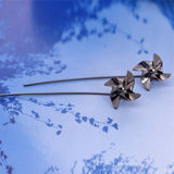 Dunya Unique Origami Pinwheel Windmill Wired Drop Earrings - www.MyBodiArt.com #earrings