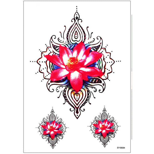 Unique Waterlily Geometric Mandala Tattoo Ideas for Women - Watercolor Floral Flower Lily Tribal Boho Tat - www.MyBodiArt.com #tattoos