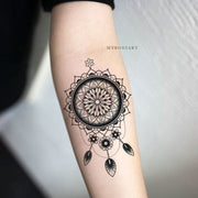 Cool Tribal Dreamcatcher Forearm Tattoo Ideas for Women Black Henna Geometric Mandala Arm Tat -  Ideas geniales para tatuajes de antebrazos para mujeres - www.MyBodiArt.com