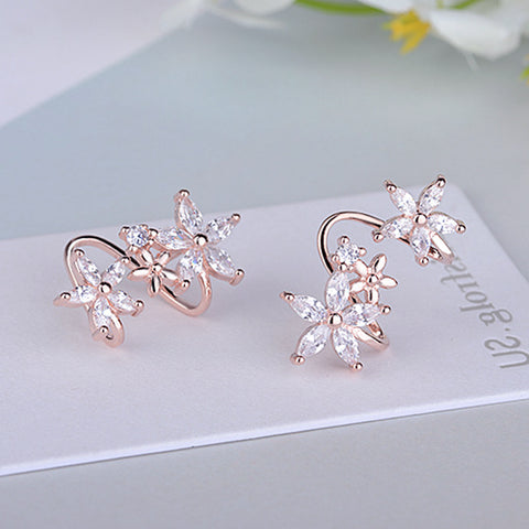 Cute Ear Piercing Ideas For Teens Crystal Flower Spiral