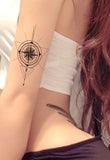 Unique Compass Arm Sleeve Tattoo Ideas for Women - www.MyBodiArt.com