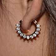 Cute Crystal Clicker Earring Ear Piercing Jewelry Ideas for Women -  ideas de piercing de oreja para las mujeres - www.MyBodiArt.com