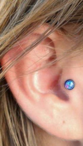 Opal Tragus Piercing Jewelry at MyBodiArt in Lilac