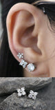Classy Multiple Ear Piercing Ideas - Crystal Flower Earring Studs 16G - lindas perforaciones múltiples Ideas para niñas adolescentes - www.MyBodiArt.com #earrings