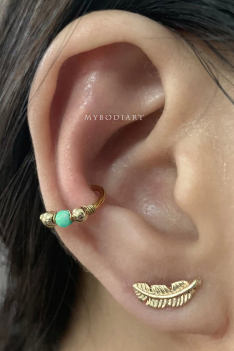 Cute Simple Cartilage Helix Gold Ear Piercing Jewelry Ideas for Women -  joyería piercing de oreja - www.MyBodiArt.com #earrings