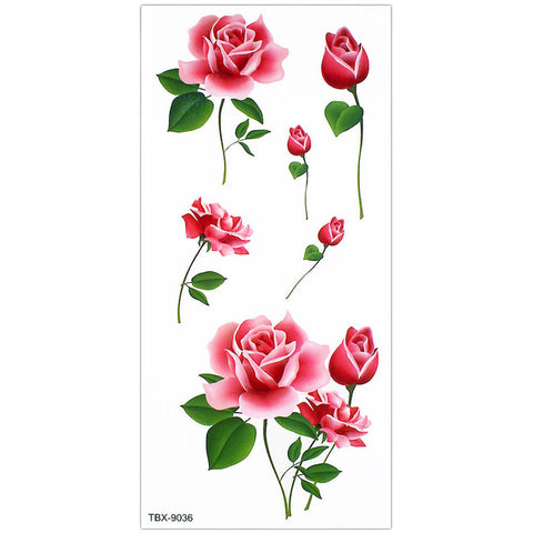 Small Cute Red Rose Floral Flower Temporary Tattoo Art Design Ideas Women's Teens Girls - www.MyBodiArt.com #tattoos