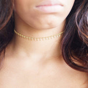 Cute Chain Choker Necklace for Teens Simple Dainty Minimalist Beads Necklaces in Gold or Silver for Women - collar gargantilla cadena linda y delicada - www.MyBodiArt.com #necklace