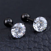 Crystal Ear Piercing Jewelry Ideas Earrings for Cartilage, Helix, Conch, Tragus, Earlobe in Black  - www.MyBodiArt.com