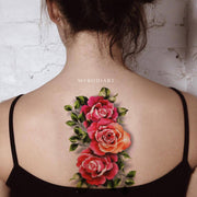 Vintage Black Rose Floral Flower Temporary Tattoo Ideas for Women -  Ideas de tatuajes vintage para mujer - www.MyBodiArt.com