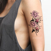Cute Purple Watercolor Floral Flower Arm Sleeve Tattoo Ideas for Women -  ideas lindas del tatuaje del brazo de la flor de la acuarela - www.MyBodiArt.com #tattoos