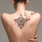 Coeur Geometric Tribal Boho Black and White Mandala Butterfly Temporary Tattoos