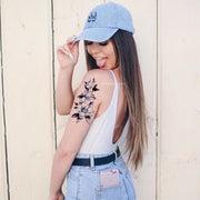 Cute Blue Watercolor Floral Flower Arm Sleeve Tattoo Ideas for Women -  Manga del brazo de la flor azul tatuaje ideas para mujeres - www.MyBodiArt.com