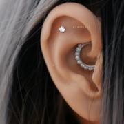 Simple Cute Cartilage Helix Ear Piercing Crystal Jewelry Ideas for Women -  ideas de piercing de oreja de cartílago lindo - www.MyBodiArt.com