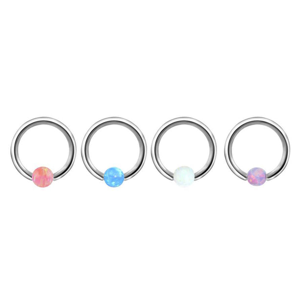 Andromeda Opal Ball Captive Bead Ring