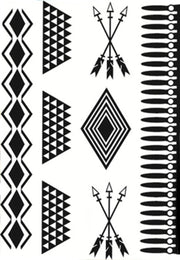 Tribal Temporary Festival Party Tattoo Set at MyBodiArt