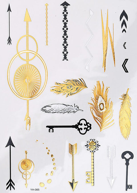 Tribal Temporary Tattoo Set at MyBodiArt