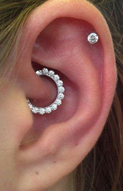 Unique Daith Ear Piercing Ideas - Cute Multiple Earrings Clicker Jewelry for Cartilage, Daith -  ideas únicas para perforar las orejas - www.MyBodiArt.com