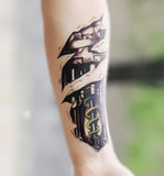 Robot Arm Temporary Tattoo at MyBodiArt