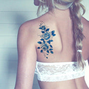 Delicate Vintage Floral Flower Temporary Tattoo - MyBodiArt.com