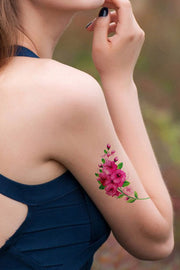 Vintage Floral Flower Small Arm Sleeve Tattoo Ideas for Women  - www.MyBodiArt.com