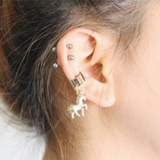 Multiple Ear Piercing Ideas - Pegasus Unicorn Ear Cuff Earring at MyBodiArt.com - White