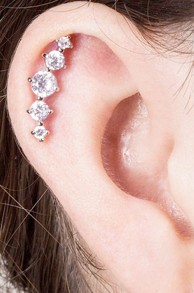 Classy Cartilage Ear Piercing Ideas Jewelry Earrings Studs - www.MyBodiArt.com