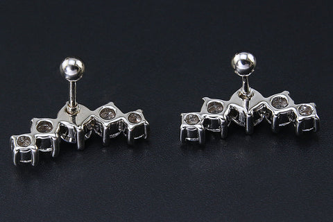 Cavana 5 Crystal Ear Piercing Jewelry 16G Cartilage Earring Lobe Stud Helix Jewelry- www.MyBodiArt.com
