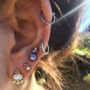 Tribal Boho Multiple Cartilage Helix Ear Piercing Jewelry Ideas for Women -  lindas ideas de joyería para piercing de orejas - www.MyBodiArt.com #piercings