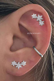 Cute Feminine Simple Ear Piercing Jewelry Ideas for Women - www.MyBodiArt.com