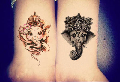 Minotaur Ganesha Elephant Temporary Tattoo