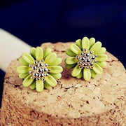 Green Flower Ear Studs at MyBodiArt.com