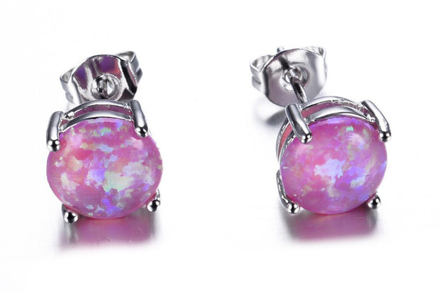 Purple Opal Earrings - MyBodiArt.com