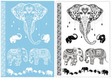 Rosie Ganesha Elephant White or Black Tribal Temporary Tattoo