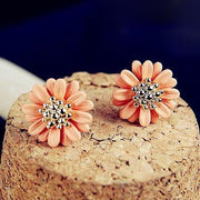 Orange Daisy Flower Earrings at MyBodiArt.com