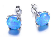Christmas Gifts for Her - Opal Blue Earrings - MyBodiArt.com