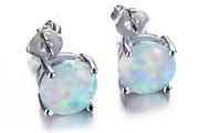 Silver Opalite Earrings - MyBodiArt.com