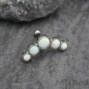 Opal Cartilage Piercing Jewelry at MyBodiArt