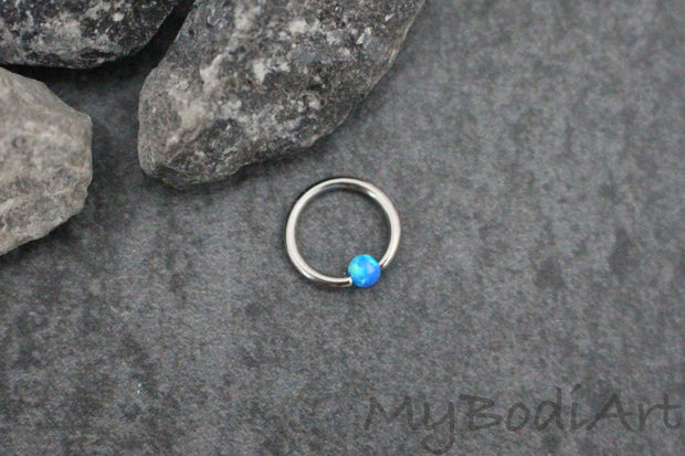 Opal Tragus Ring at MyBodiArt