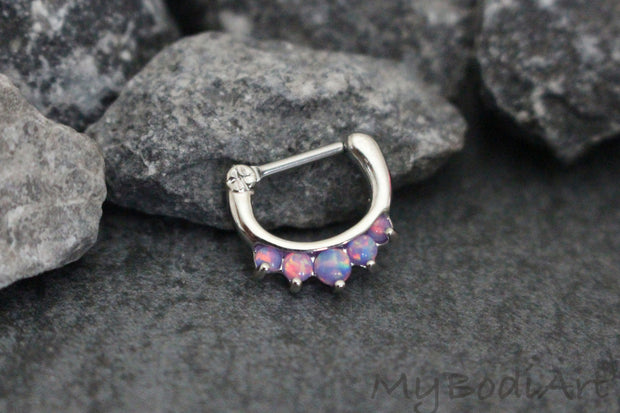 Purple Opal Septum Jewellery at MyBodiArt