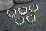 Opal Septum Piercing Jewelry at MyBodiArt