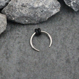Silver Septum Pincher - Septum Piercing Jewelry Ring Hoop - at MyBodiArt.com
