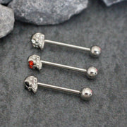Crystal Skull Tongue Piercing Jewelry at MyBodiArt.com